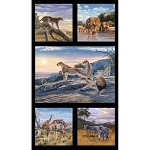 AFRICAN ANIMALS PANEL, BY ELIZABETH STUDIO