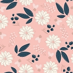 BLUSH MAIN SPARKLE METALLIC PINK FLORAL,BY RILEY BLAKE