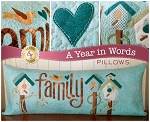A YEAR IN WORDS , FAMILY MARCH PILLOW PATTERN, BY SHABBY FABRICS