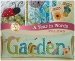 A YEAR IN WORDS ,GARDEN JUNE,PILLOW PATTERN, BY SHABBY  FABRICS