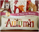 A YEAR IN WORDS ,AUTUMN SEPTEMBER ,PILLOW PATTERN, BY SHABBY   FABRICS