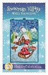 SNOWMAN VILLAGE WALL HANGING PATTERN , BY SHABBY FABRICS