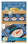 SNOWMAN PATCHWORK ACCENT RUNNER  PATTERN , BY SHABBY FABRICS