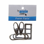 ANNIE, PURSE PARTS 1.5'' ANTIQUE BRASS, SET