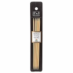 BAMBOO KNITTING NEEDLES DP, 6'', N03, 3.25MM