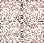 10 INCH SQUARES,THE LITTLE THINGS, BY MAYWOOD STUDIO