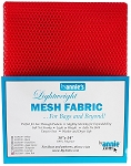 MESH FABRIC, LIGHTWEIGHT,ATOMIC RED, BY ANNIE'S