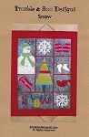 SNOW WALL HANGING PATTERN, BY TROUBLE AND BOO DESIGNS
