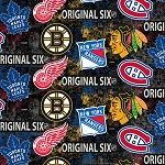 NHL ORIGINAL SIX DISTRESSED TOSSED LOGO COTTON, BY SYKEL ENTERPRISE