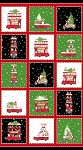 DOUBLE DECKER XMAS, MULTI BLOCK PANEL, BY NORTHCOTT
