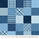 GOT THE BLUES,  DENIM PATCHWORK, BY NORTHCOTT
