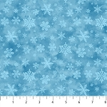 CHRISTMAS WOODLAND , BLUE  TONAL SNOWFLAKES , BY NORTHCOTT