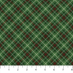 VINTAGE CHRISTMAS , GREEN PLAID , BY NORTHCOTT