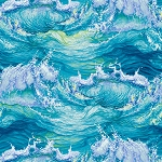 THE LIGHTKEEPER'S QUILT, AQUA CRASHING WAVES, BY STUDIO E