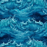 THE LIGHTKEEPER'S QUILT, STORMY CRASHING WAVES, BY STUDIO E