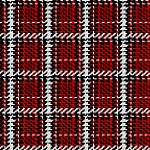 MIDWINTER SONG, RED WOVEN PLAID, BY STUDIO E