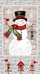 SNOW PLACE LIKE HOME, SNOWMAN PANEL, BY STUDIO E