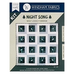 NIGHT SONG WOLF LODGE QUILT KIT, BY WINDHAM