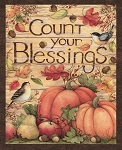 HARVEST, COUNT YOUR BLESSINGS PANEL, BY SPRINGS