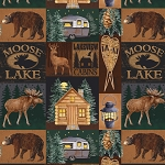 BROWN/DARK GREEN MOOSE LAKE, BY DAVID TEXTILES