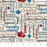 OH CANADA 8, INSPIRATIONAL WIDE BACKING, BY NORTHCOTT