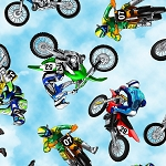 MULTI DIRT BIKES, BY TIMELESS TREASURES