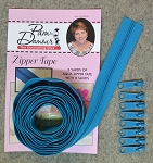 ZIPPER TAPE AQUA, BY DECORATING DIVA