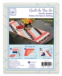 QUILT AS YOU GO, JAKARTA TABLE RUNNER,BY JUNE TAILOR INC