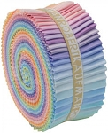 2-1/2in Strips Roll Up Kona Cotton Solids Pastel Palette 41pcs