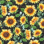 SUNDANCE MEADOW,  BLACK LARGE SUNFLOWERS, BY WILMINGTON