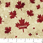 Stonehenge OH CANADA  Gold Canada Maple Leaf ,from Northcott Studio