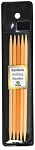 BAMBOO KNITTING NEEDLES DP, 6'', N0.6, 4.25MM