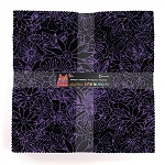 10 INCH SQUARES, MIDNIGHT, BATIK MENAGERIE, BY CLOTHWORKS