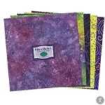 10 Inch Squares, JEWELS ULTRA VIOLET batiks, from wilmington