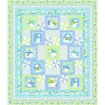SNOW BEARS FLANNEL ,WINTER FUN QUILT KIT