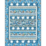 SNOWY FRIENDS  ,  THROW QUILT KIT ,53''X 68''