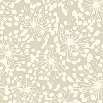 BIRDS AND BLOOMS, LIGHT TAUPE  GEO,BY CLOTHWORKS