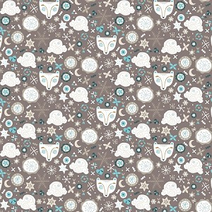 Snowfall, Taupe Bear faces, by Camelot