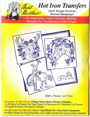 Aunt Martha's Iron On Transfers, HORSES  AND DEER