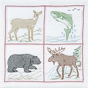WILDERNESS  QUILT BLOCKS , BY JACK DEMPSEY NEEDLE ART