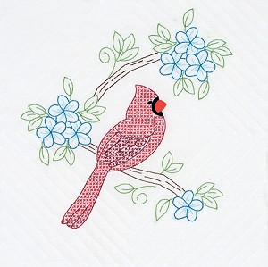 CARDINALS QUILT BLOCKS , BY JACK DEMPSEY NEEDLE ART