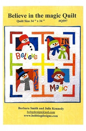 BELIEVE IN THE MAGIC QUILT PATTERN,BY BOBBIE G DESIGNS