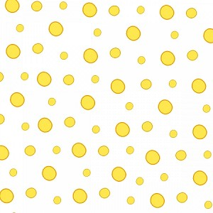 WISH UPON A STAR FLANNEL WHITE/YELLOW DOTS, BY HENRY GLASS