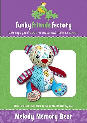 MELODY MEMORY BEAR, PATTERN, BY FUNKY FRIENDS FACTORY