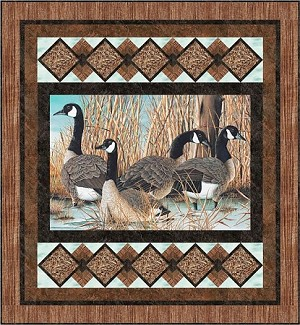 PICTURE THIS  QUILT KIT, THROW  59 1/2'' X 64 1/2''