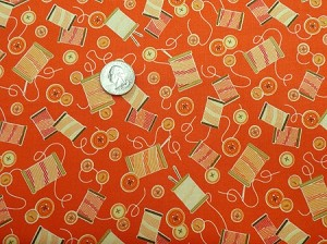 SEWING MENDS THE SOUL, ORANGE THREADS, BY QUILTING TREASURES