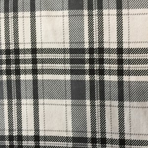 GREY/BLACK  PLAID FLANNEL