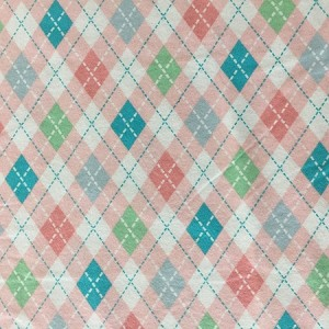 BABY LOVE  CORAL FLANNEL, ARGYLE