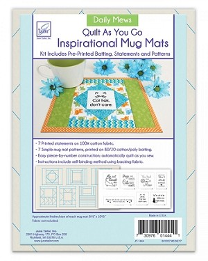 QUILT AS YOU GO, DAILY MEWS MUG MATS ,BY JUNE TAILOR INC