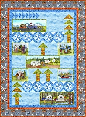QUILTERS  TRIP' N QUILT KIT,BY MAYWOOD STUDIO